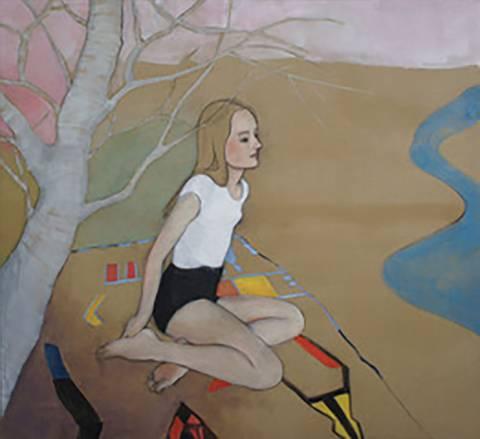 Bilde av Girl under a tree av June Sira