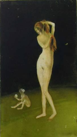 Bilde av Girl, Monkey, Apple av June Sira