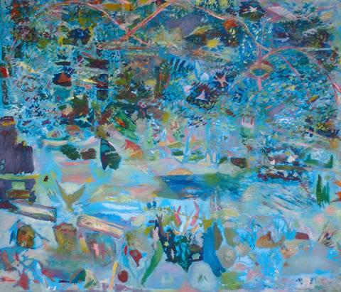Bilde av Seven Swans, maleri av Harald Lyche