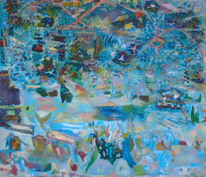 Seven Swans, maleri av Harald Lyche