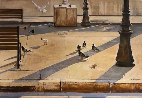Bilde av Gatebilde av Asbjørn Petershagen