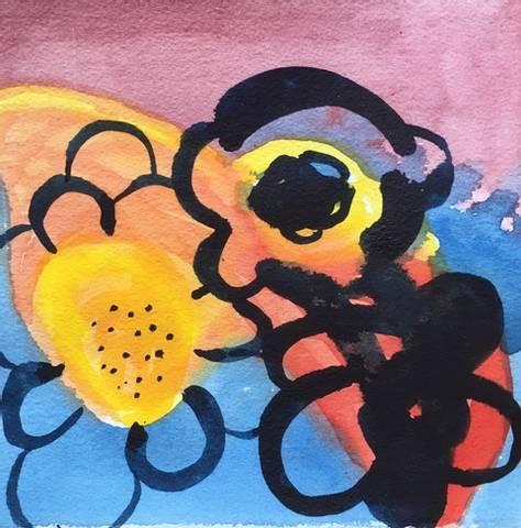 Bilde av Himmelblomster av Elisabet Norseng med ramme